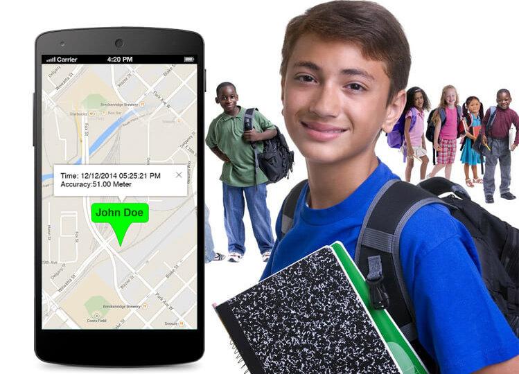 Free unobtrusive monitoring for children's phone