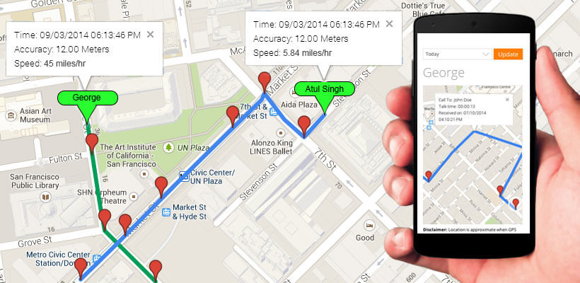 real Time GPS Tracker App