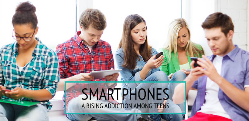 child addicted to smartphones