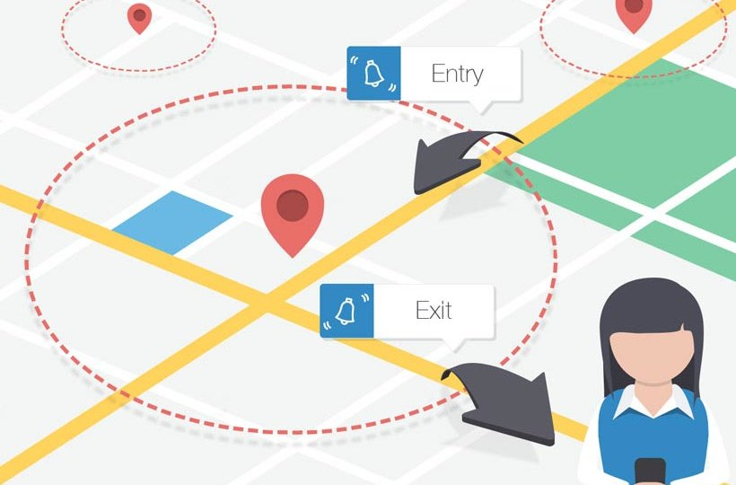 Simple geofence app as a part of Easy Logger.