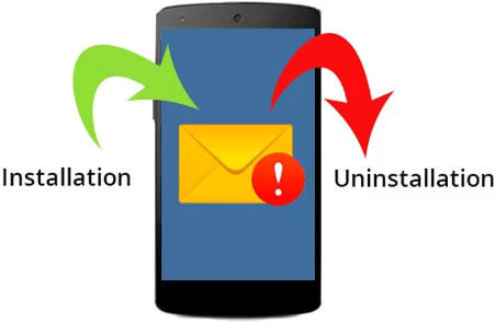 Receive app install/uninstall alerts over email