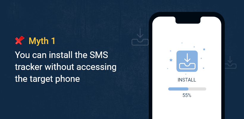 You can install the SMS tracker without accessing the target phone.